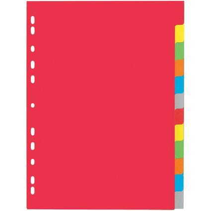 PAGNA Karton-Register, DIN A4, 12-teilig, 6-farbig
