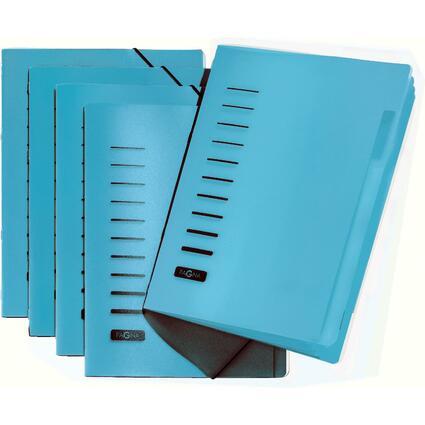 PAGNA Ordnungsmappe, DIN A4, aus PP, 6 Fächer, blau
