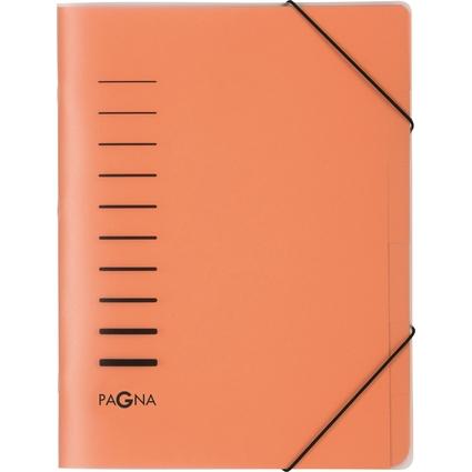 PAGNA Ordnungsmappe, DIN A4, aus PP, 6 Fächer, orange