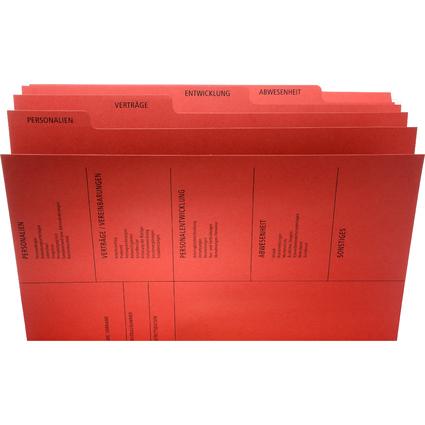 PAGNA Personalakte, aus Karton, 5-fach, rot