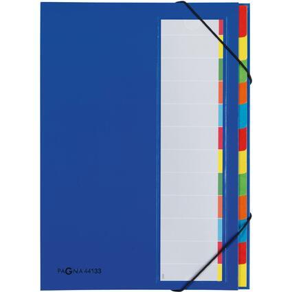 PAGNA Ordnungsmappe DESKORGANIZER Color, 12 Fächer, blau