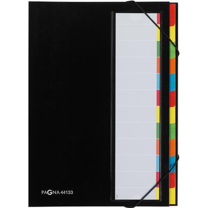 PAGNA Ordnungsmappe DESKORGANIZER Color, 12 Fächer, schwarz
