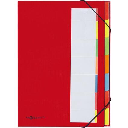 PAGNA Ordnungsmappe DESKORGANIZER Color, 7 Fächer, rot