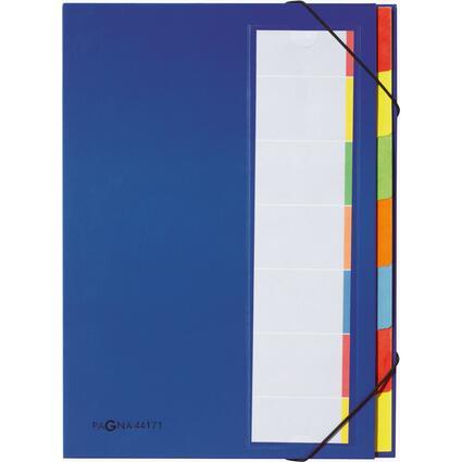 PAGNA Ordnungsmappe DESKORGANIZER Color, 7 Fächer, blau