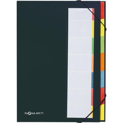 PAGNA Ordnungsmappe DESKORGANIZER Color, 7 Fächer, schwarz
