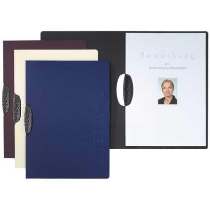 "PAGNA Bewerbungsmappe ""Shape"", DIN A4, aus Karton, blau"