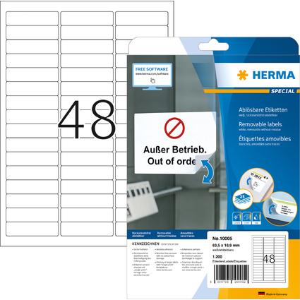 HERMA Universal-Etiketten SPECIAL, 63,5 x 16,9 mm, weiß