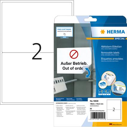 HERMA Universal-Etiketten SPECIAL, 199,6 x 143,5 mm, weiß