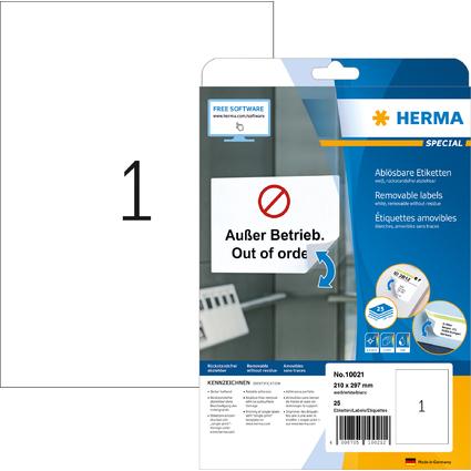 HERMA Universal-Etiketten SPECIAL, 210 x 297 mm, weiß
