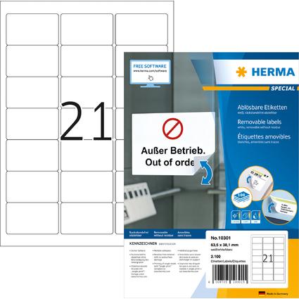 HERMA Universal-Etiketten SPECIAL, 63,5 x 38,1 mm, weiß