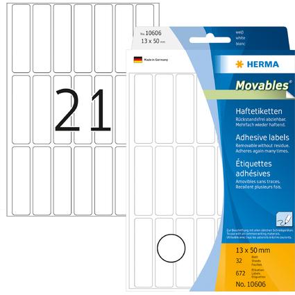 """HERMA Etiketten """"Movables"""" 13 x 50 mm, zur Handbeschriftung"""
