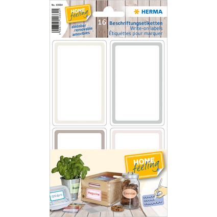 HERMA Beschriftungsetiketten HOME, grau / braun, 52 x 82 mm