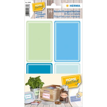 HERMA Beschriftungsetiketten HOME, blau / grün, 52 x 82 mm