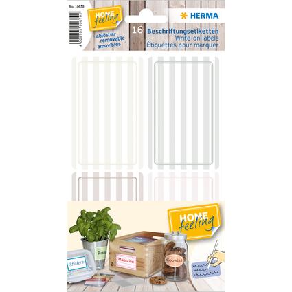 HERMA Beschriftungsetiketten HOME, grau / braun, liniert