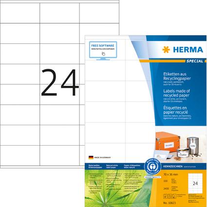 HERMA Universal-Etiketten Recycling, 70 x 36 mm
