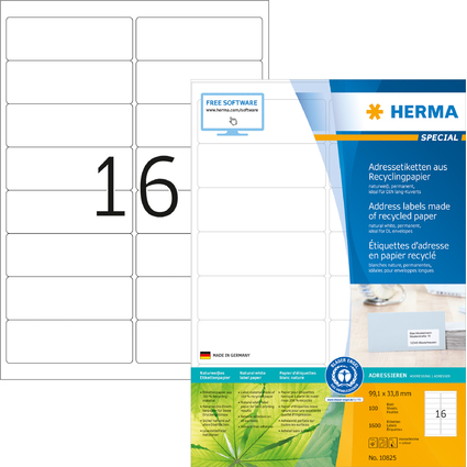 HERMA Universal-Etiketten Recycling, 99,1 x 33,8 mm