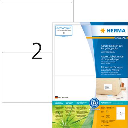 HERMA Universal-Etiketten Recycling, 199,6 x 143,5 mm