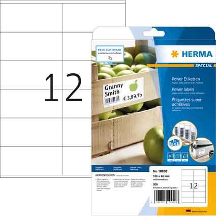 HERMA Power Etiketten SPECIAL, 105 x 48 mm, weiß