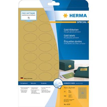 HERMA Folien-Etiketten SPECIAL, 40,6 x 25,4 mm, gold