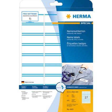 HERMA Namens-Etiketten SPECIAL, 63,5 x 29,6 mm, blauer Rand