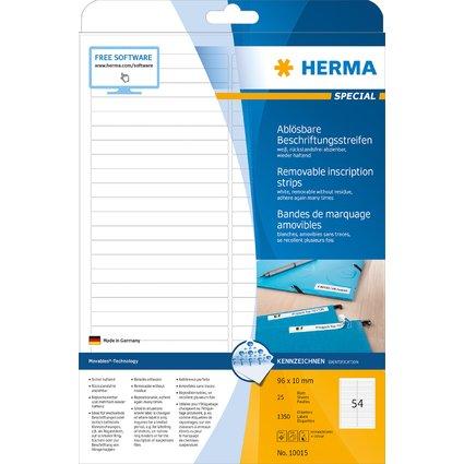 HERMA Universal-Etiketten SPECIAL, 96,0 x 10,0 mm, weiß