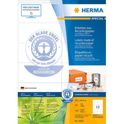 HERMA Universal-Etiketten Recycling, 105 x 48 mm