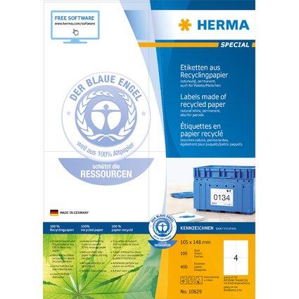 HERMA Universal-Etiketten Recycling, 105 x 148 mm