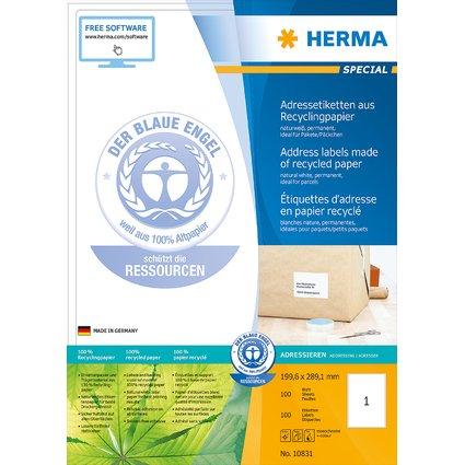 HERMA Universal-Etiketten Recycling, 199,6 x 289,1 mm