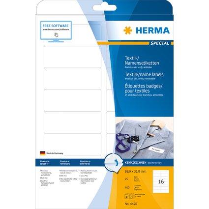 HERMA Namens-Etiketten SPECIAL, 88,9 x 33,8 mm, weiß