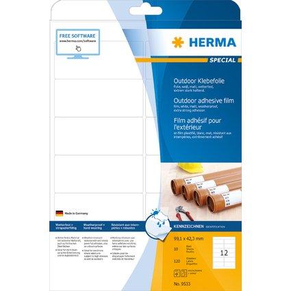 HERMA Outdoor Folien-Etiketten SPECIAL, 99,1 x 42,3 mm