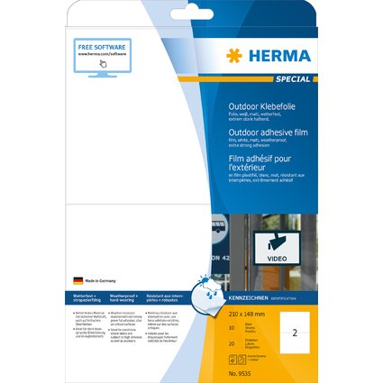 HERMA Outdoor Folien-Etiketten SPECIAL, 210 x 148 mm