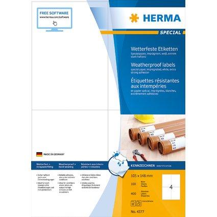 HERMA Etiketten SPECIAL, 105 x 148 mm, wetterfest