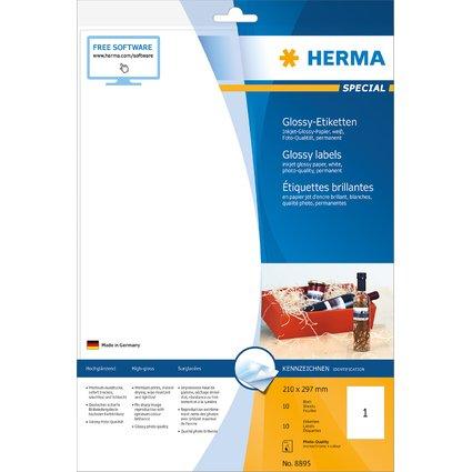 HERMA Flaschen-Etiketten SPECIAL, 210 x 297 mm, weiß
