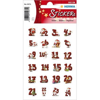 """HERMA Weihnachts-Sticker DECOR """"Lebkuchenzahlen"""""""