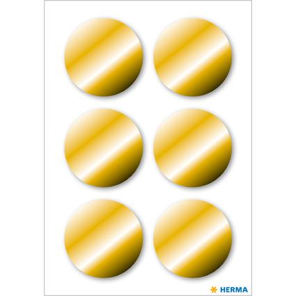 HERMA Weihnachts-Haftetiketten, rund, 32 mm, gold