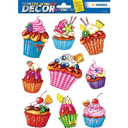"HERMA Fensterbild ""Cupcakes"", DIN A4"