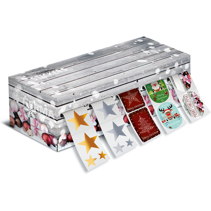 HERMA Weihnachts-Sticker, auf Rolle, in Spenderbox