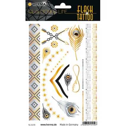 """HERMA FLASH Tattoo """"Accessoires"""", Gold und Silber"""