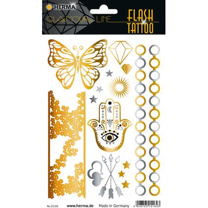 """HERMA FLASH Tattoo """"Orient"""", Gold und Silber"""