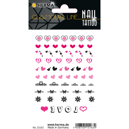 "HERMA CLASSIC Nail Tattoo ""Hearts"""
