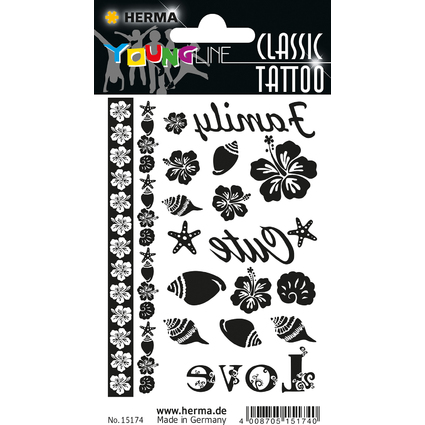 "HERMA CLASSIC Tattoo ""Black Flower"""