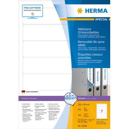 """HERMA Ordnerrücken-Etiketten """"Movables"""" 192 x 38 mm, weiß"""