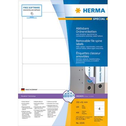 """HERMA Ordner-Etiketten """"Movables"""" 192 x 61 mm, weiß"""
