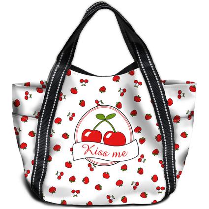"HERMA Shopping Bag ""Maxi Shopper"", Motiv: Kiss Me"