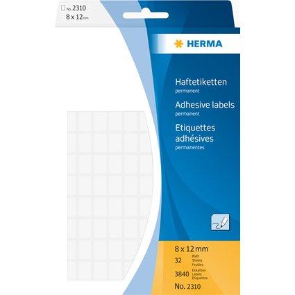 HERMA Vielzweck-Etiketten, 8 x 12 mm, weiß, Großpackung