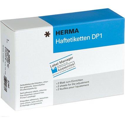HERMA Haftetiketten DP1, 32 mm Durchmesser, rot