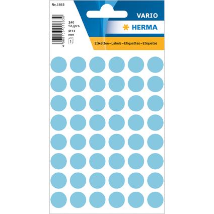 HERMA Markierungspunkte, Durchmesser: 12 mm, blau