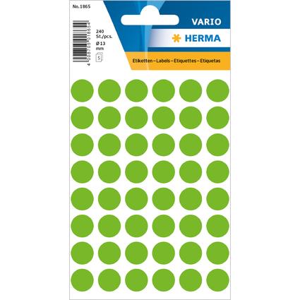 HERMA Markierungspunkte, Durchmesser: 12 mm, grün