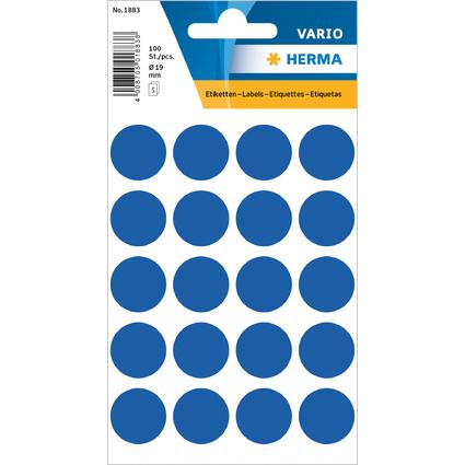 HERMA Markierungspunkte, Durchmesser: 19 mm, dunkelblau