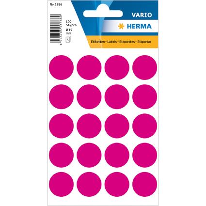 HERMA Markierungspunkte, Durchmesser: 19 mm, pink
